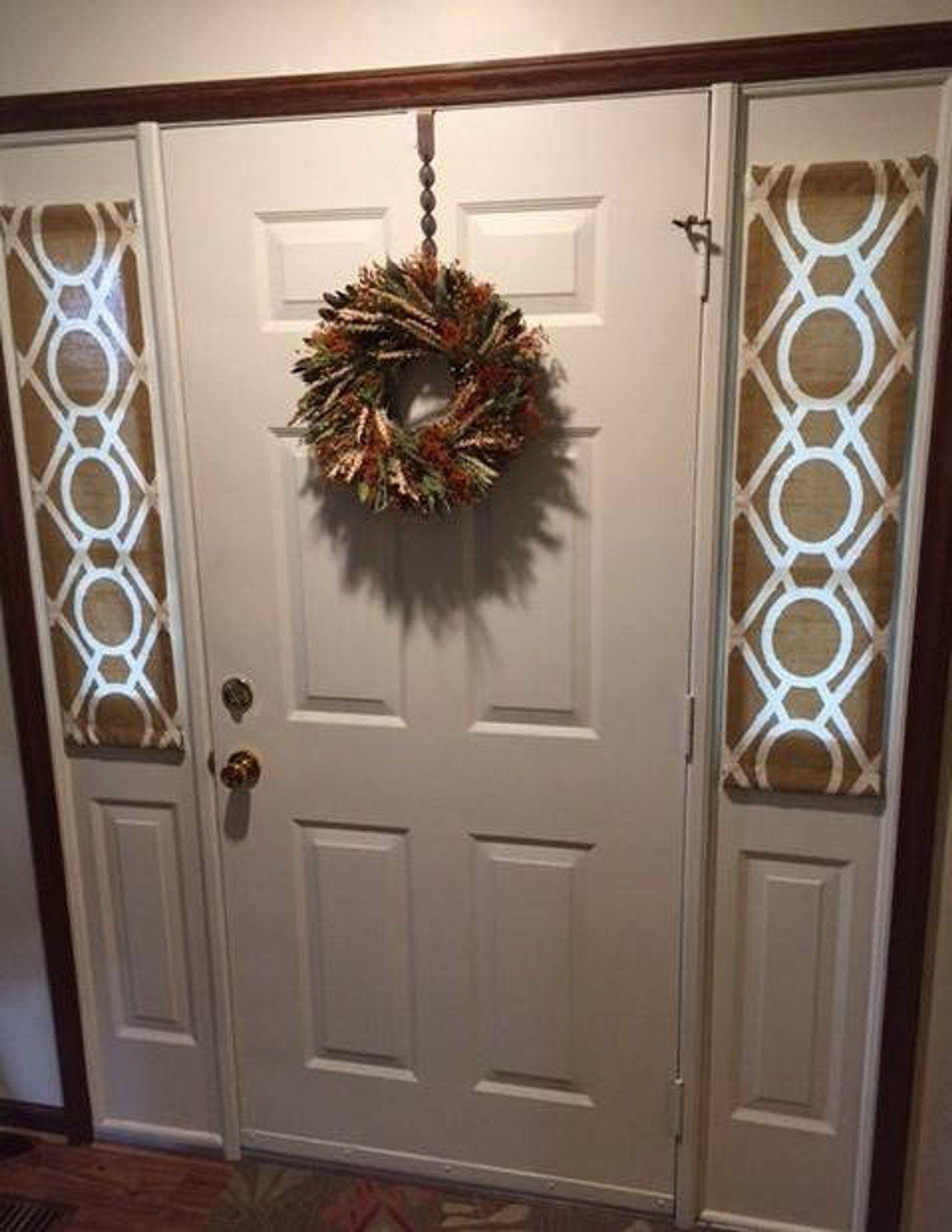 Amber Ivory Door Panels Foyer Rod Pocket Front Door Entry Door