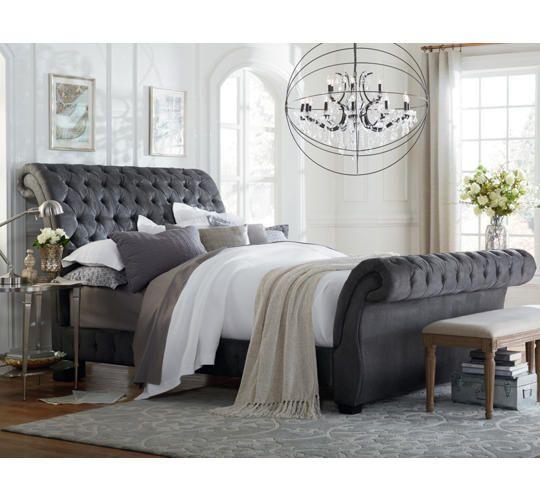 Bombay Queen Upholstered Bed Art Van Furniture Bedroom