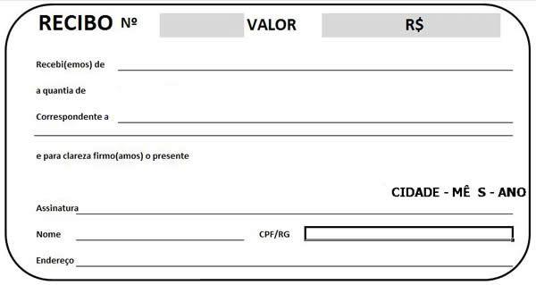 modelo de recibo de pagamento para imprimir documentos pinterest