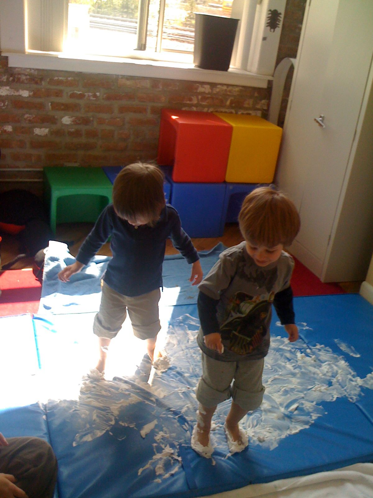 Create Your Own Ice Skating Rink With Shaving Cream