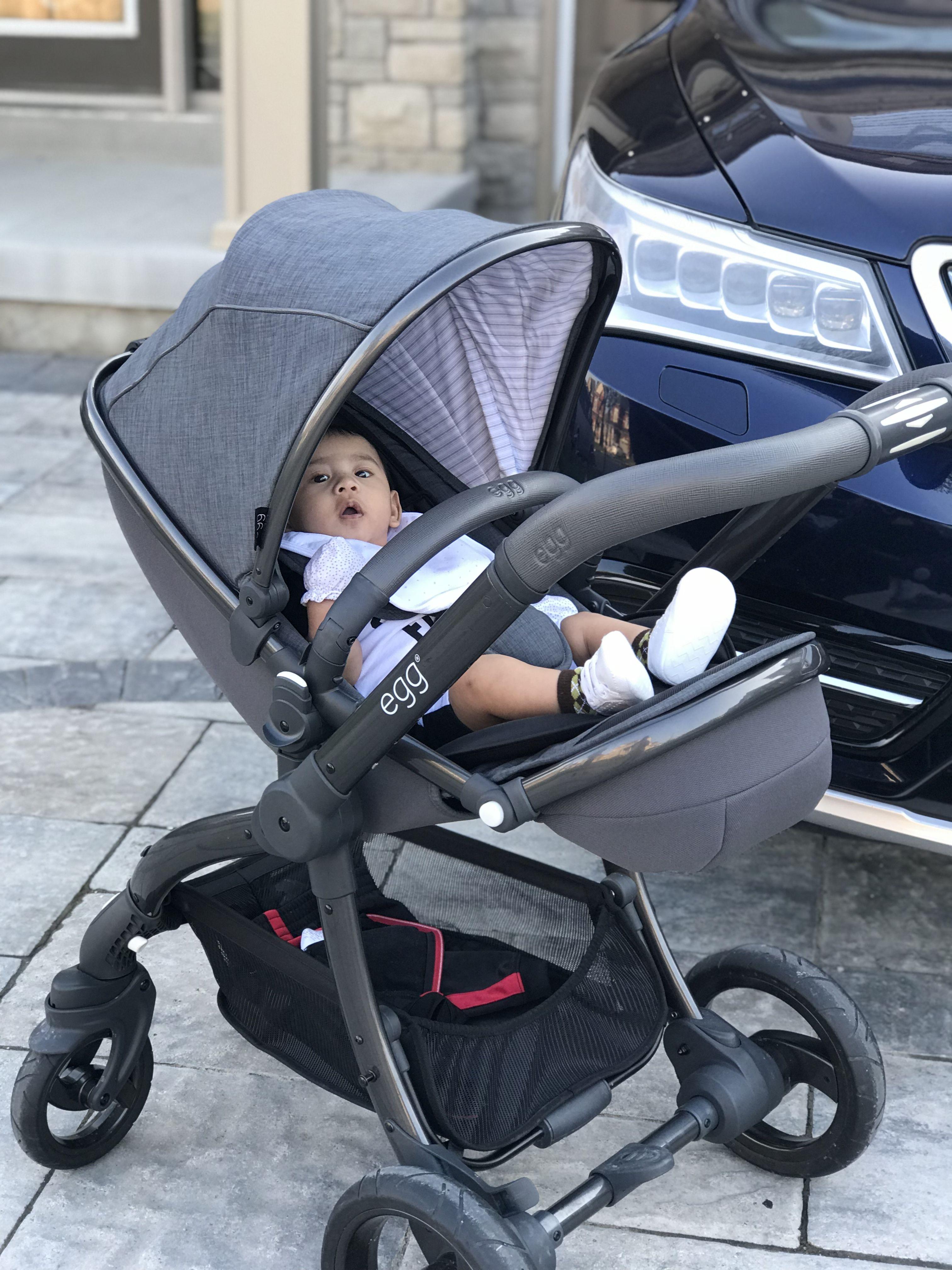 Lovin his EGG stroller! Baby strollers, Baby, Prams