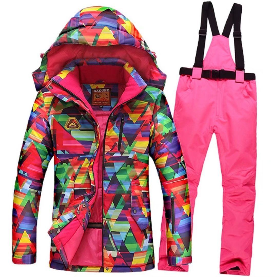 27a036cc1d OLEK Waterproof Breathable Bright Color Ski Jacket Windproof Winter  Snowboarding jackets Mountaineering Snow Skiing Pants Set