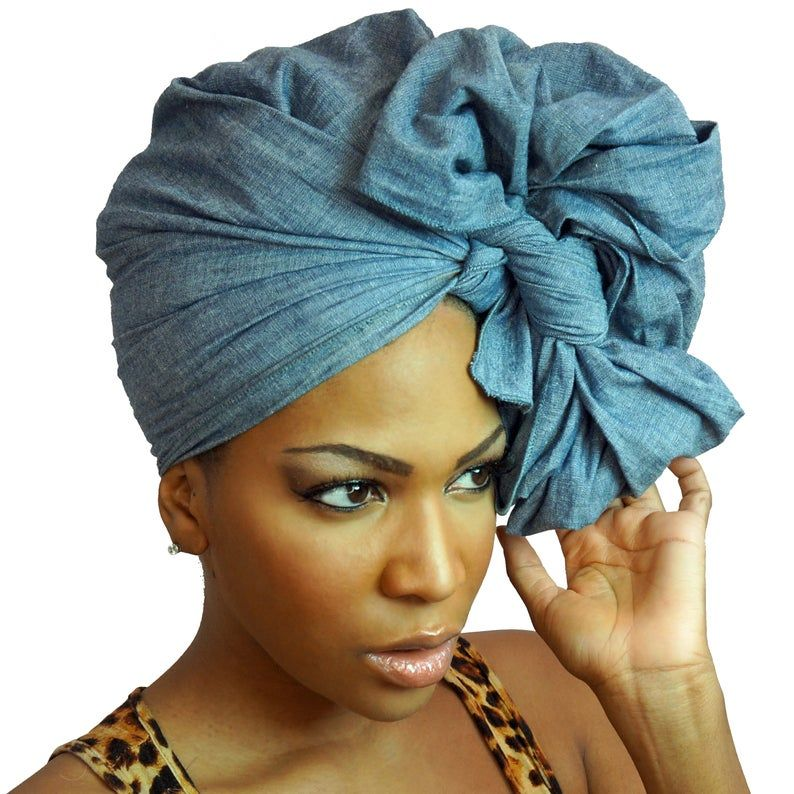 Denim Head Wrap -BLUE JEAN | Solid Color Chambray