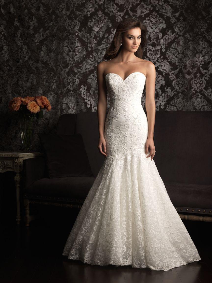 Sweetheart strapless wedding dress  Mermaid fit and flare sweetheart strapless wedding dress Cara