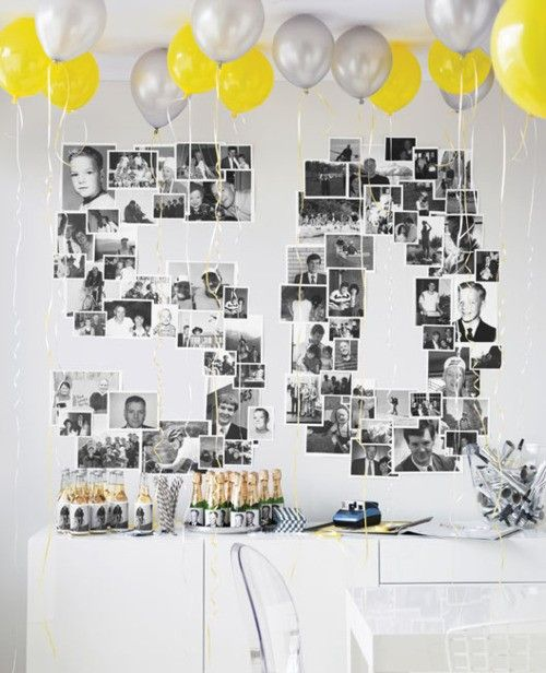 I Did This For My Husbands 40th Birthday Super Easy Looks Great On The Wall