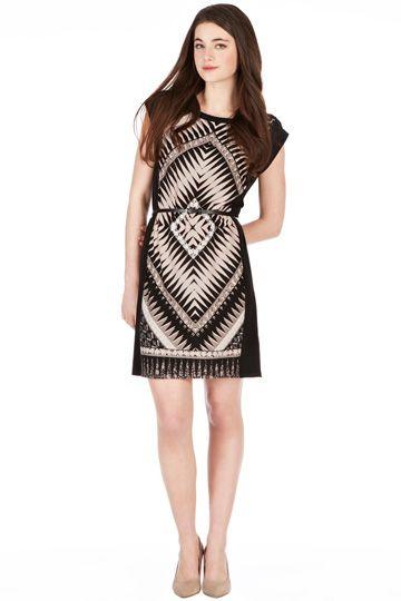 Aztec Print T-Shirt Dress