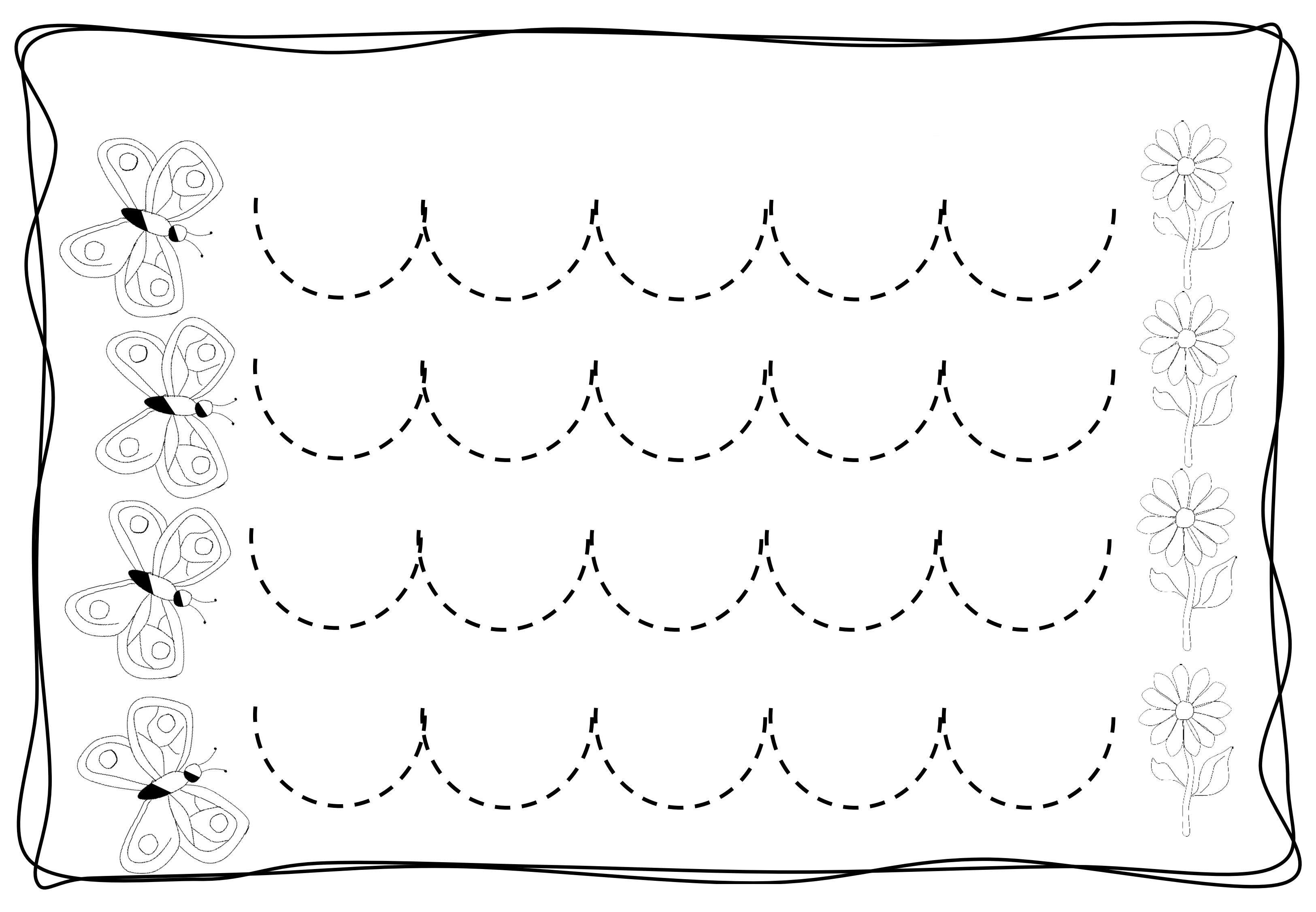 pre writing zig zag worksheets (4) « funnycrafts   cursive line ...