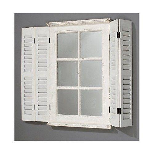 bub espejo con puertas madera diseo de ventana color blanco