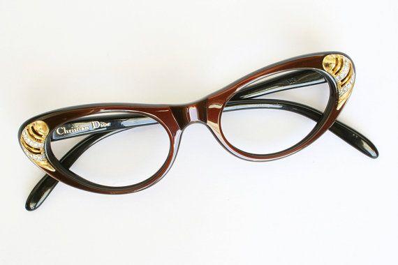 8c602fdcee2 Rare Christian Dior Vintage Cat Eye Glasses by momandpopsvintage