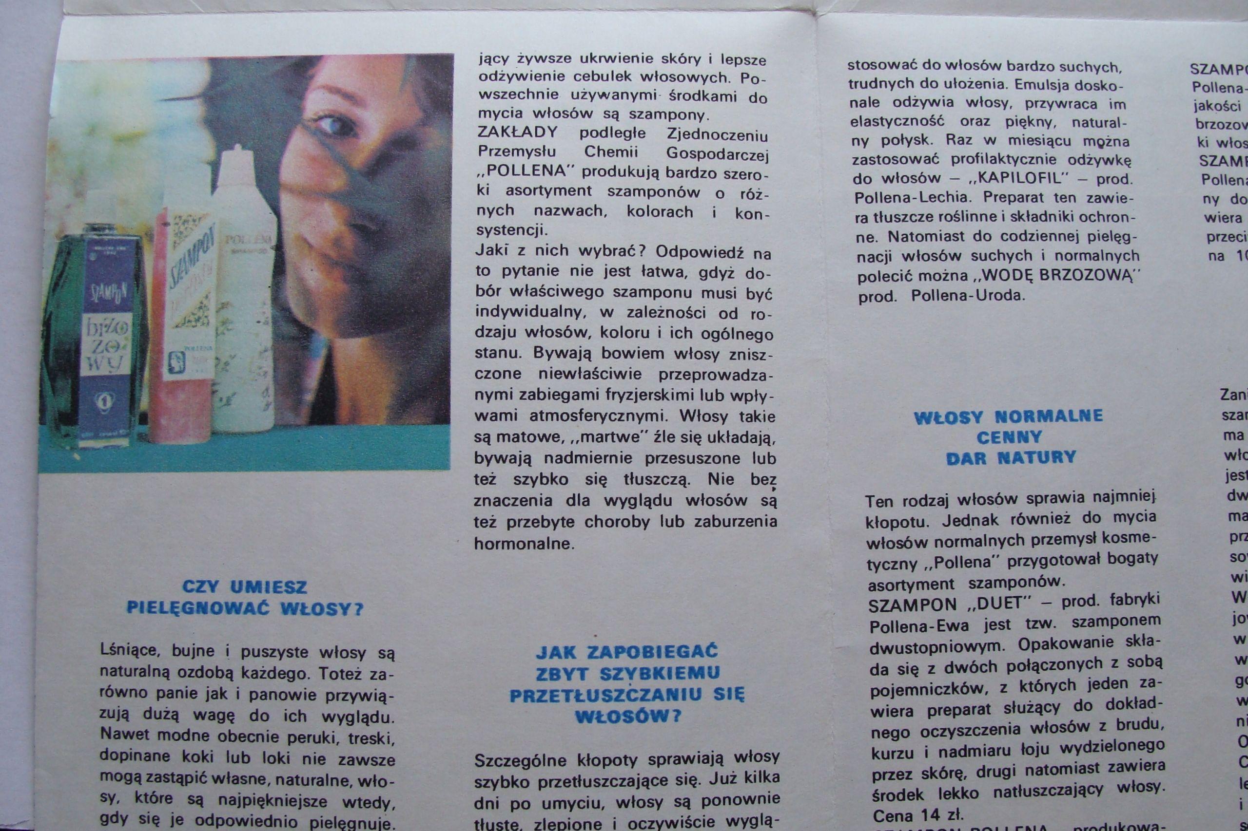 Prl Pollena Szampony Stara Broszura Reklamowa 7723292799 Oficjalne Archiwum Allegro Event