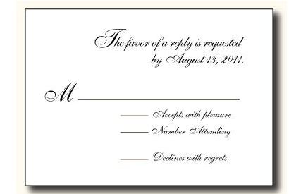 reception rsvp card wording