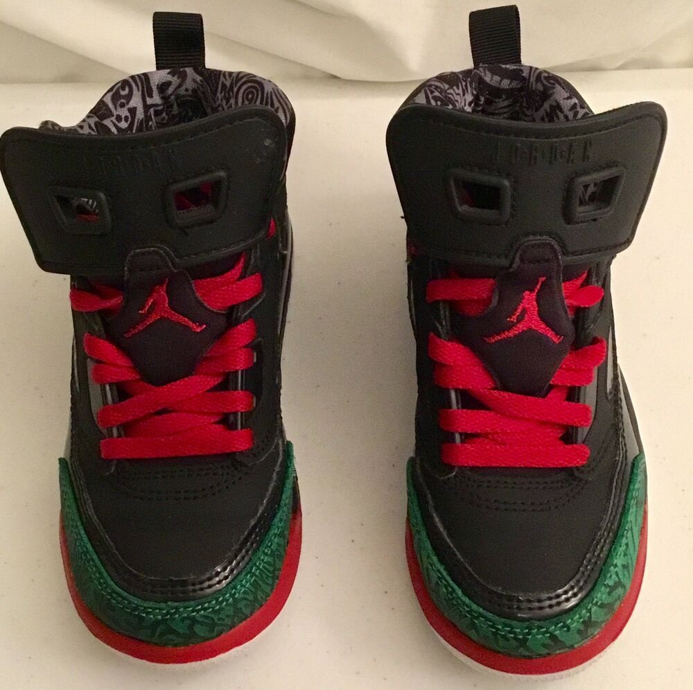 5162a3b7537ec Nike Air Jordan Spizike Black Green White Red 317700-026 size 11 ...