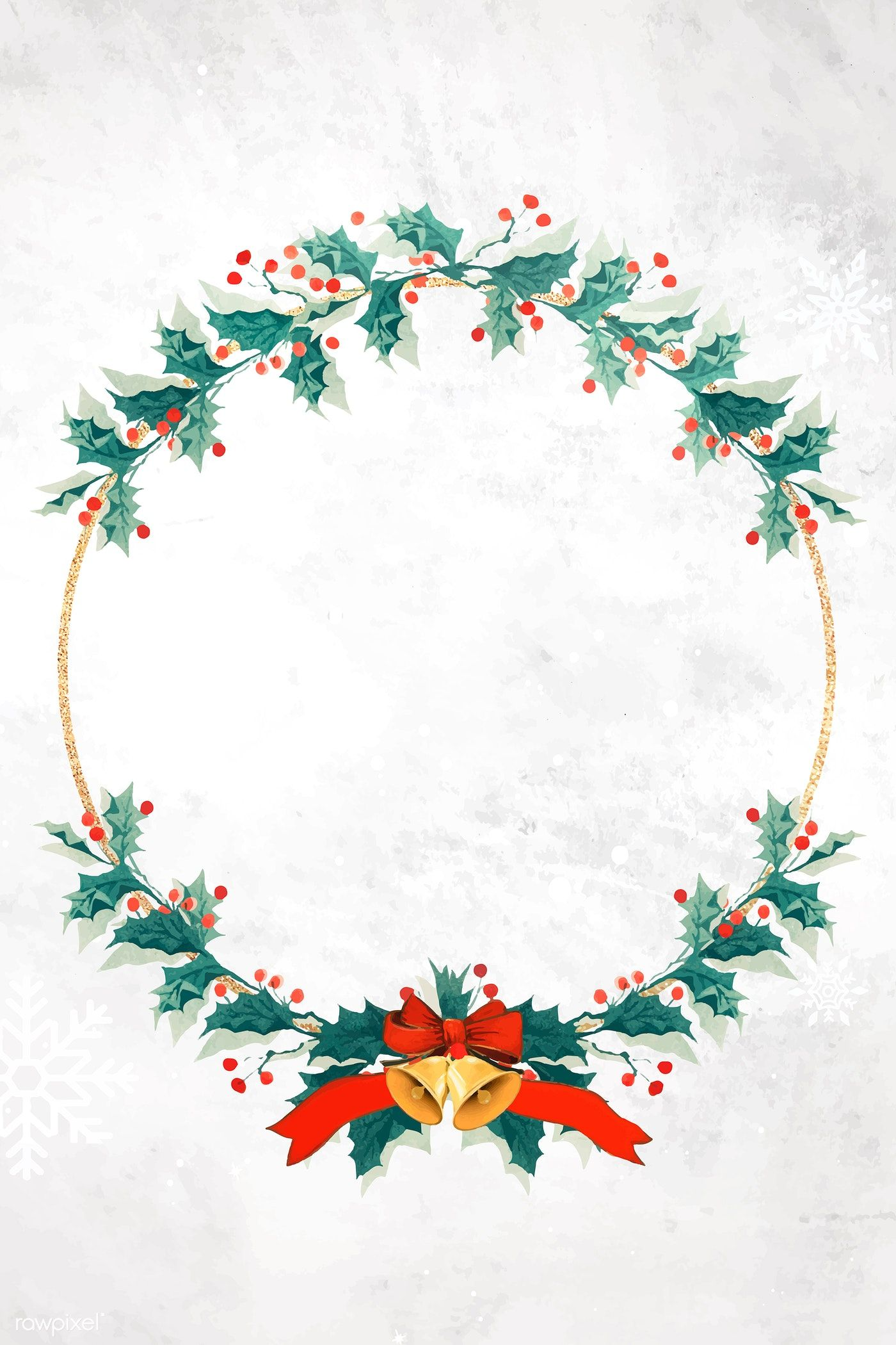 Download Premium Vector Of Blank Festive Christmas Wreath Vector 1228694 Christmas Wreath Designs Wreath Designs Merry Christmas Images