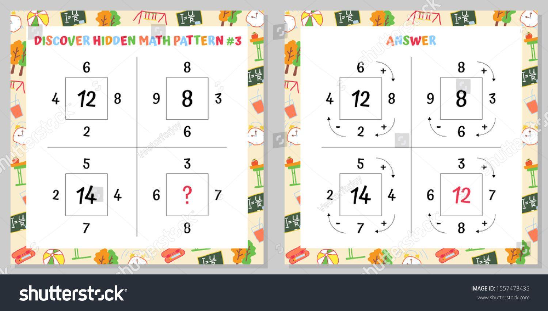 Discover Hidden Math Pattern Educational Game Worksheet