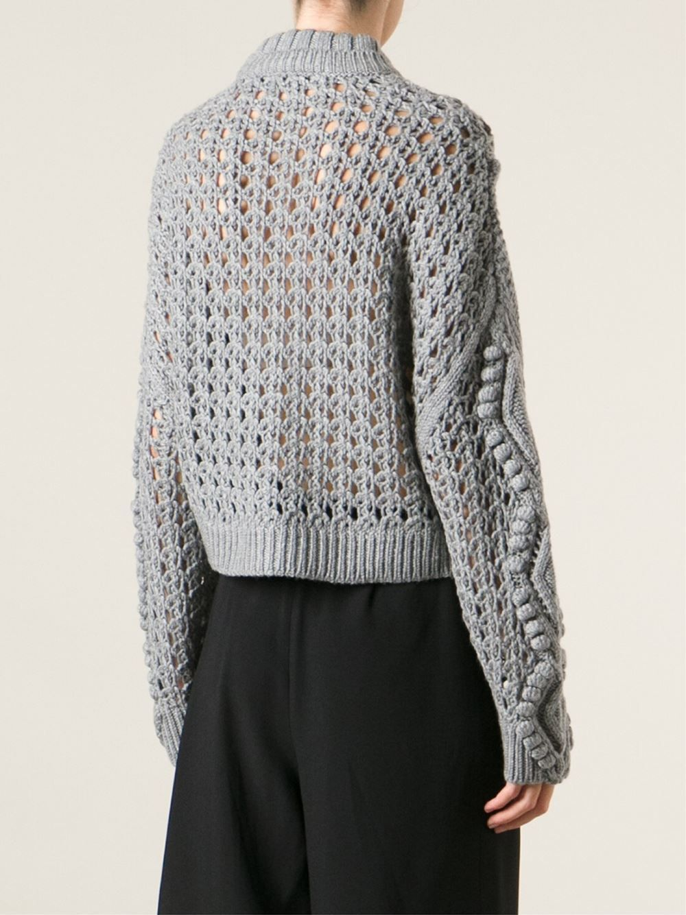 Ermanno Scervino cable knit jumper - Blanco farfetch el-gris Casual RuFxHghIE