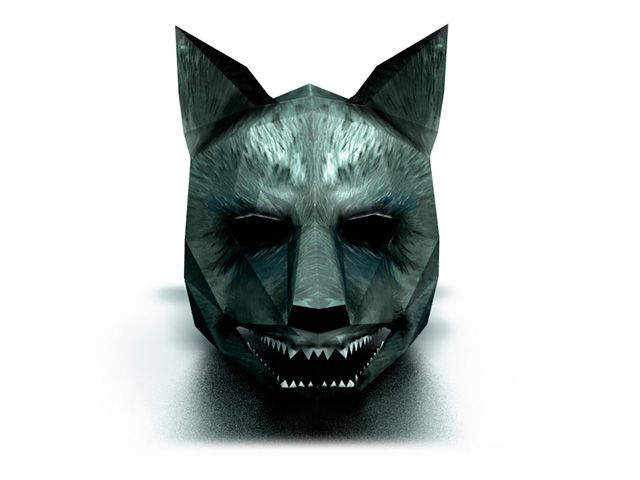 Make your own Wolf Mask from paper. Download DIY 3D wolf mask ...