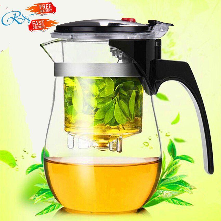 Résistant à la Chaleur théière en verre Chinois Kung fu tea set bouilloire café verre Maker