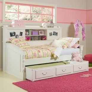 Daybed Bookshelf Trundle Bookcase Bed Shabby Chic Bedrooms