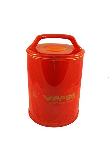 LOVFFEE 1 Pound Coffee Storage Container with Scoop Airtight Vacuum