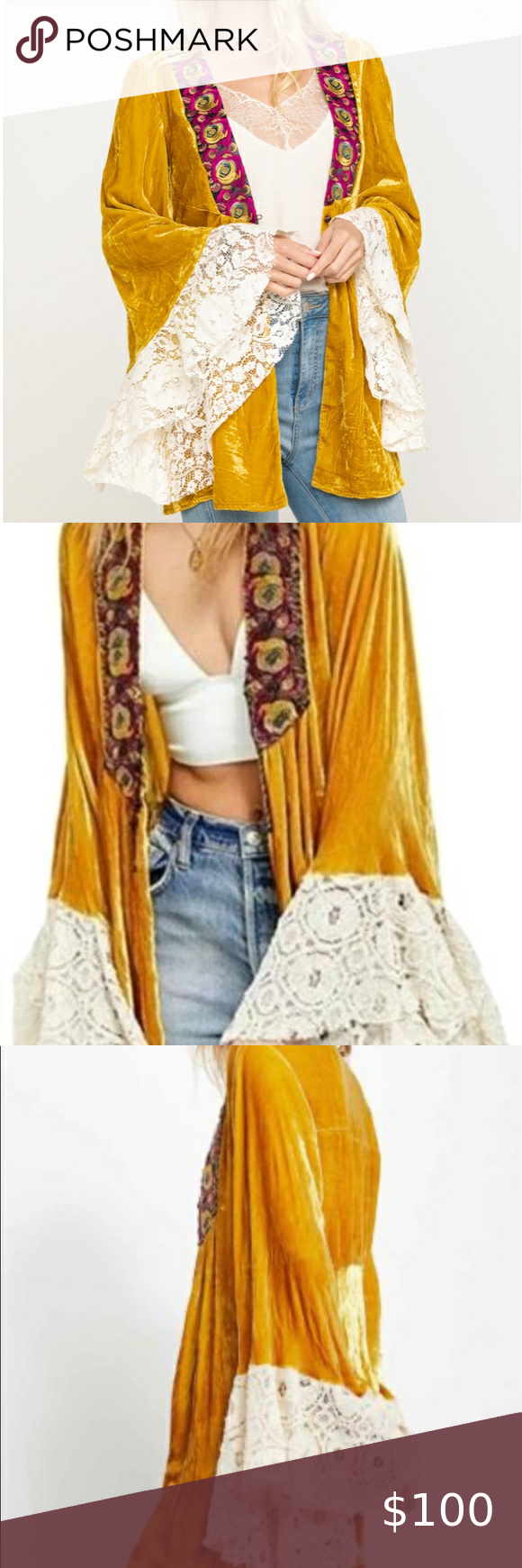 NEW WITHOUT TAGS 🌼FREE PEOPLE WANDERLUST JACKET🌼 N