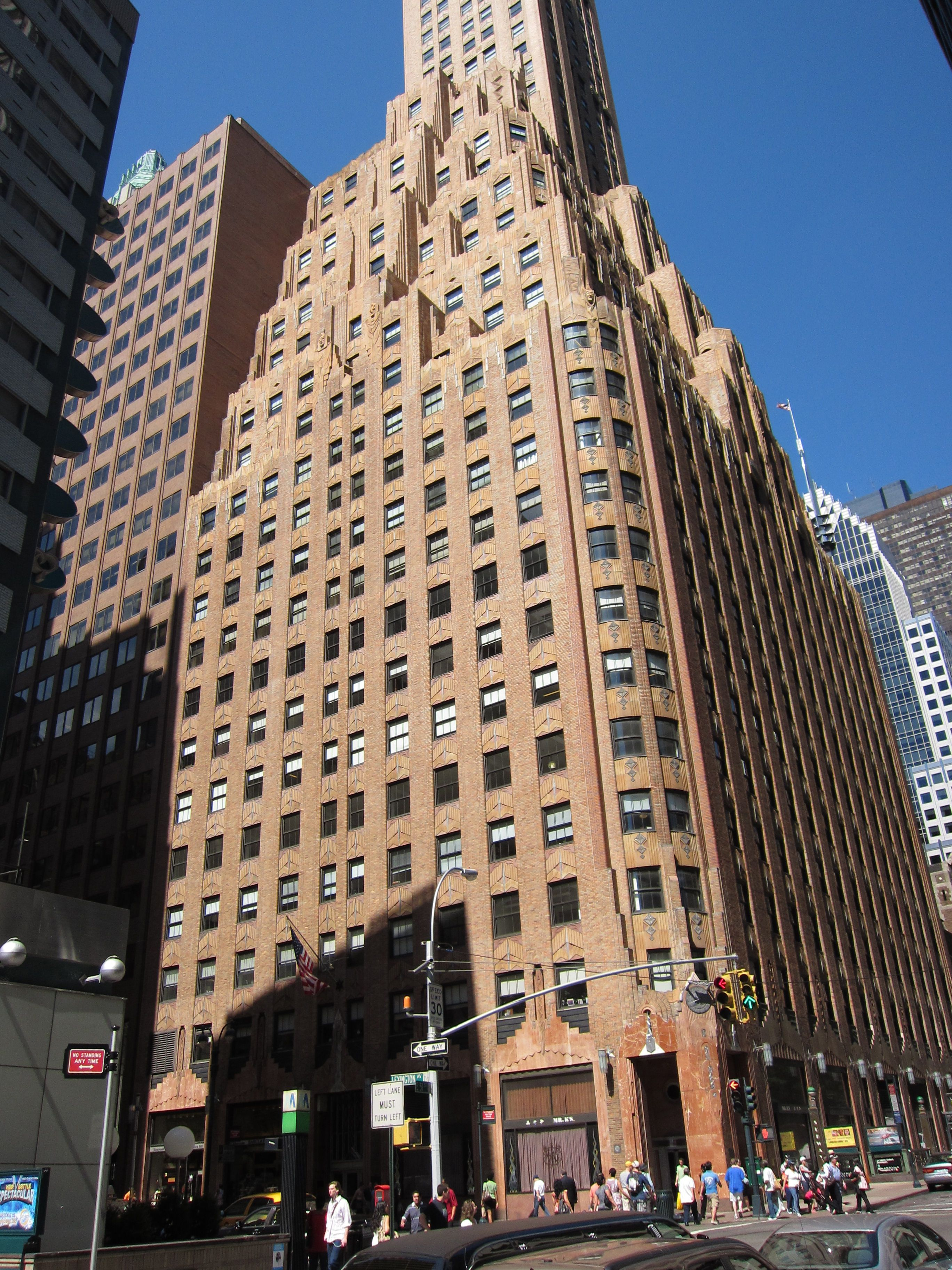The general electric building also known as 570 lexington for 200 lexington ave new york