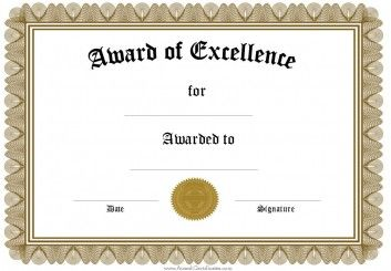 Award Certificate Templates Funny Awards Certificates Free Certificate Templates Certificate Of Recognition Template