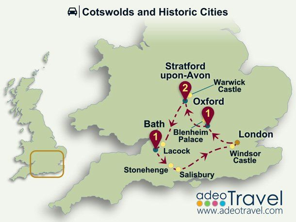 Cotswolds And Historic Cities Self Drive Tour Of England England Windsor Castle Pinterest
