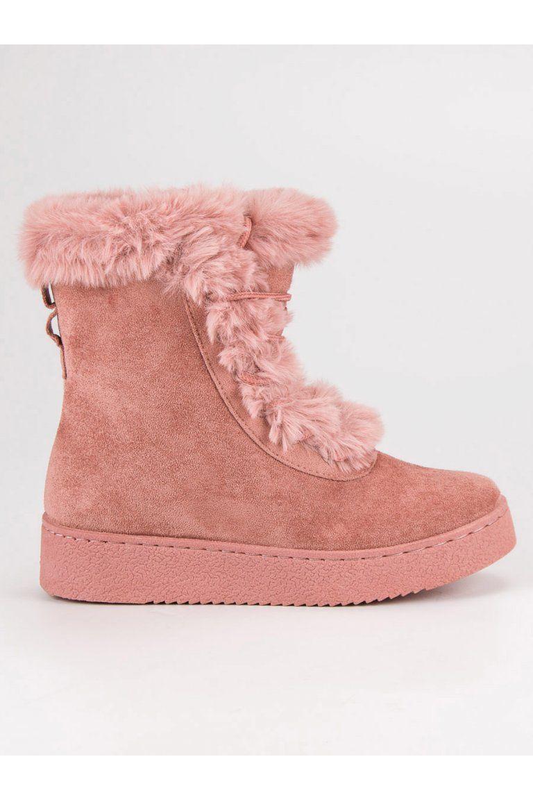 1aa5fa302d017 Zateplené ružové topánky s kožušinou CnB | Čižmy Platformy - NAJ.SK ...