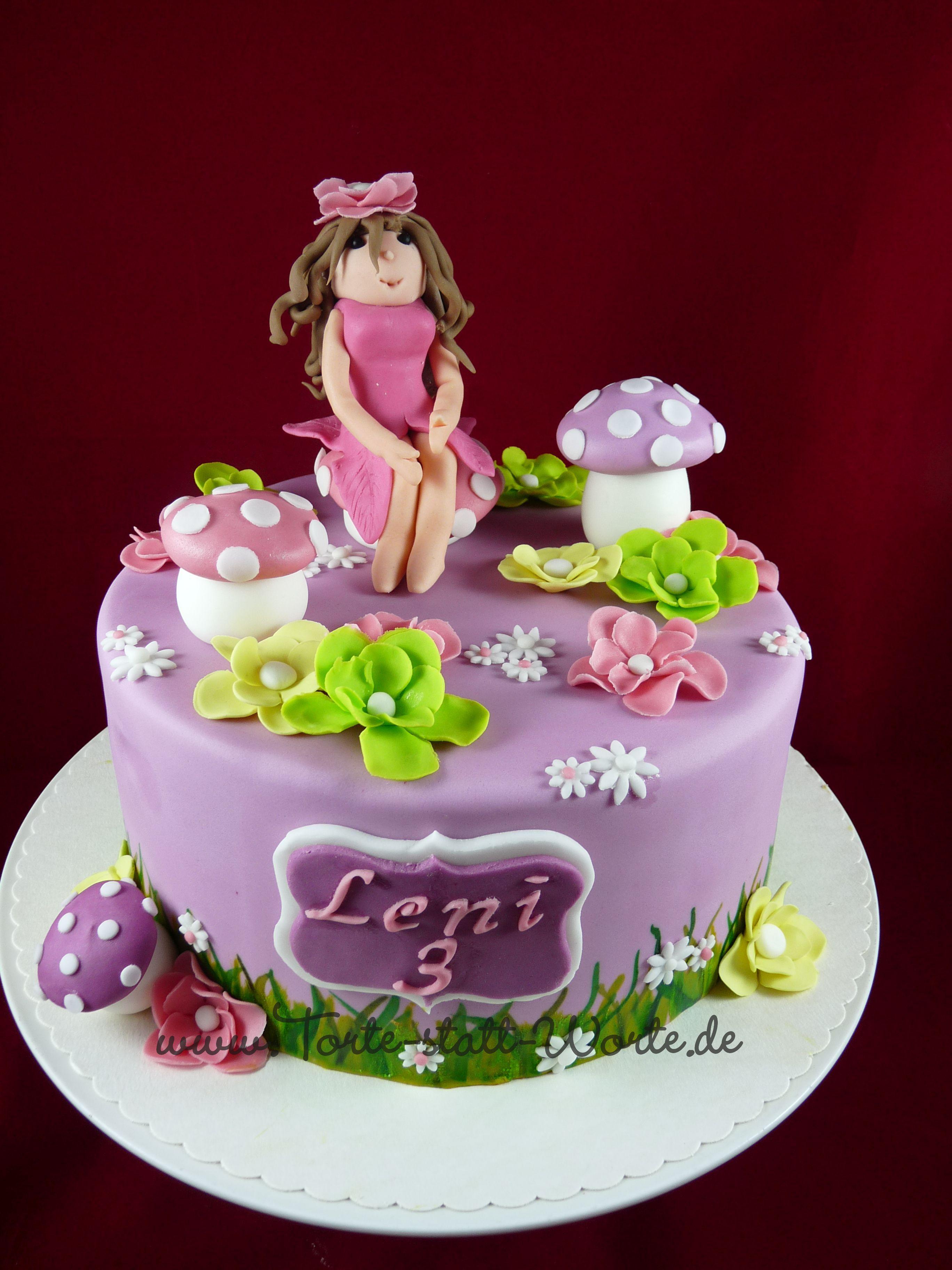 Eine Torte fr ein kleines Mdchen zum Geburtstag