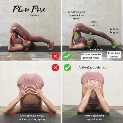 yoga and stretching exercises with correct form and