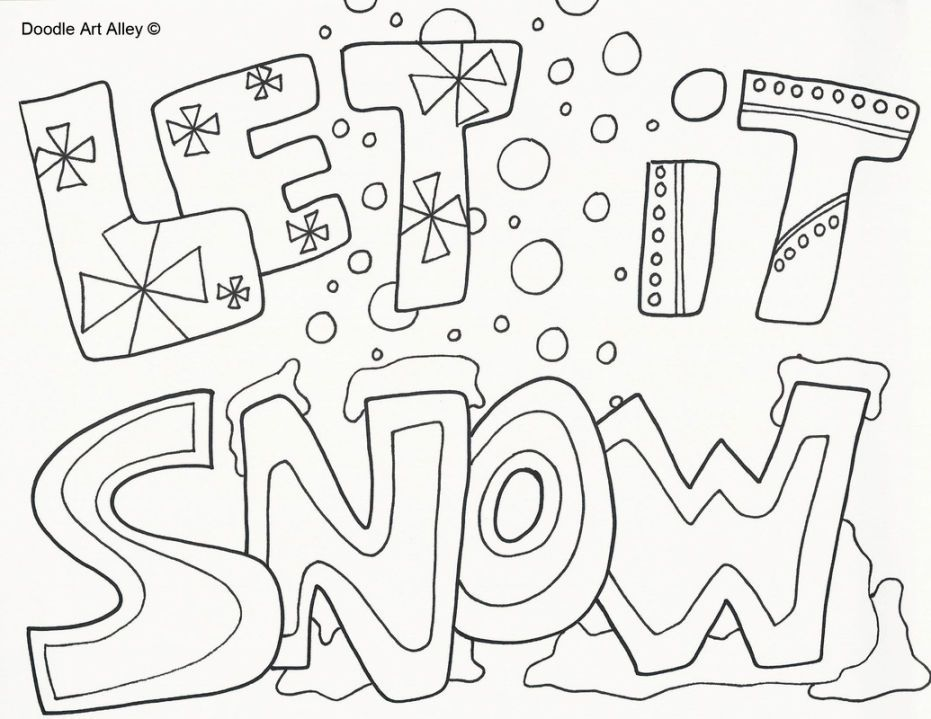 Coloring Pages Of Snow Coloring Pages Winter Christmas Coloring Pages Printable Coloring Pages