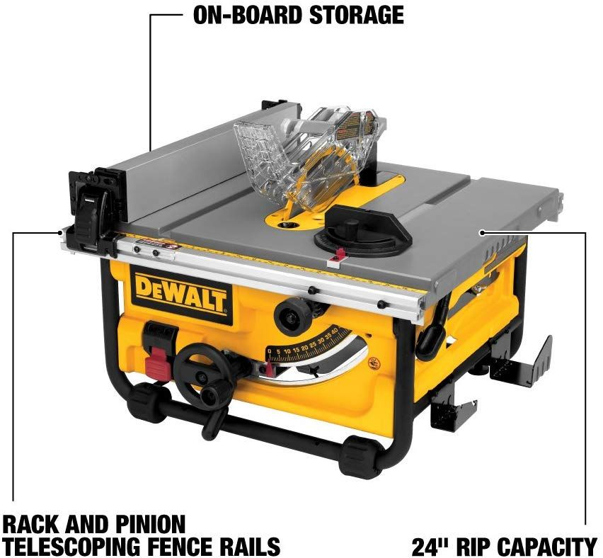 Dewalt 10 Inch Portable Table Saw With Stand Dwe7480xa Best Table Saw Portable Table Saw Table Saw
