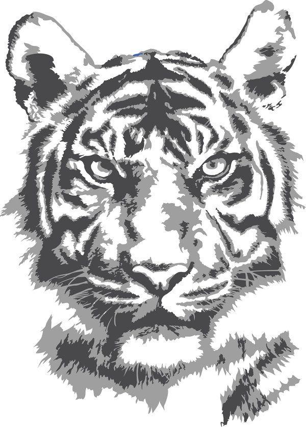 Tiger Stencil By Jen Br On Deviantart Stencils Patterns And