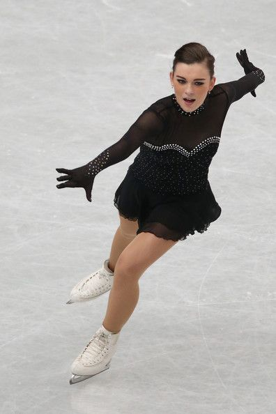 Anita Madsen of Denmark competes in the Ladies Short Program during ISU World Figure Skating Championships at Saitama Super Arena on March 27, 2014 in Saitama, Japan.