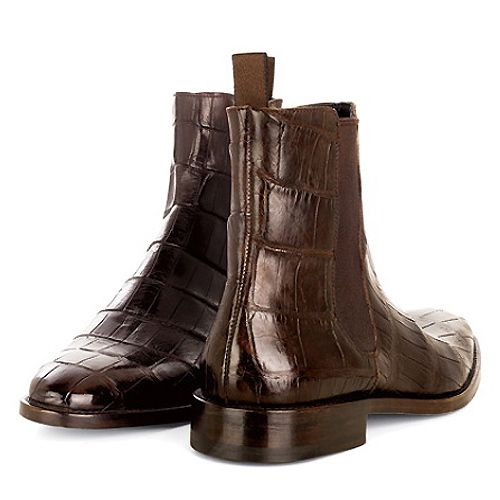 Fashiontribes: A Men's Country Walking Boot That's Fit for the Big City:  the Lambertson Truex Crocodile Chelsea Boot. FASHIONTRIBES MEN'S FASHION  BLOG