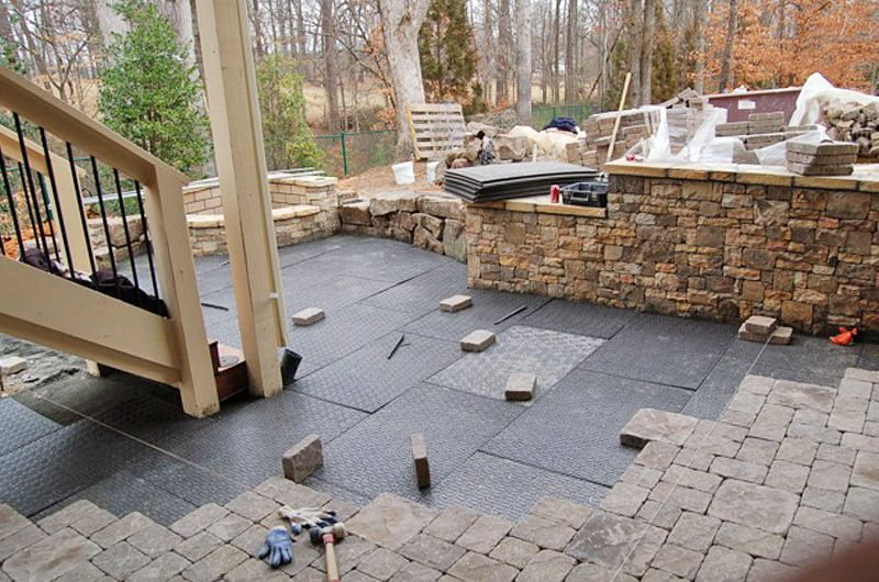 Brock Paver Base   Replaces The Time Consuming Gravel Base For Laying A  Paved Patio Etc