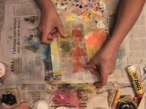 Really? An Art Journal Spread - YouTube