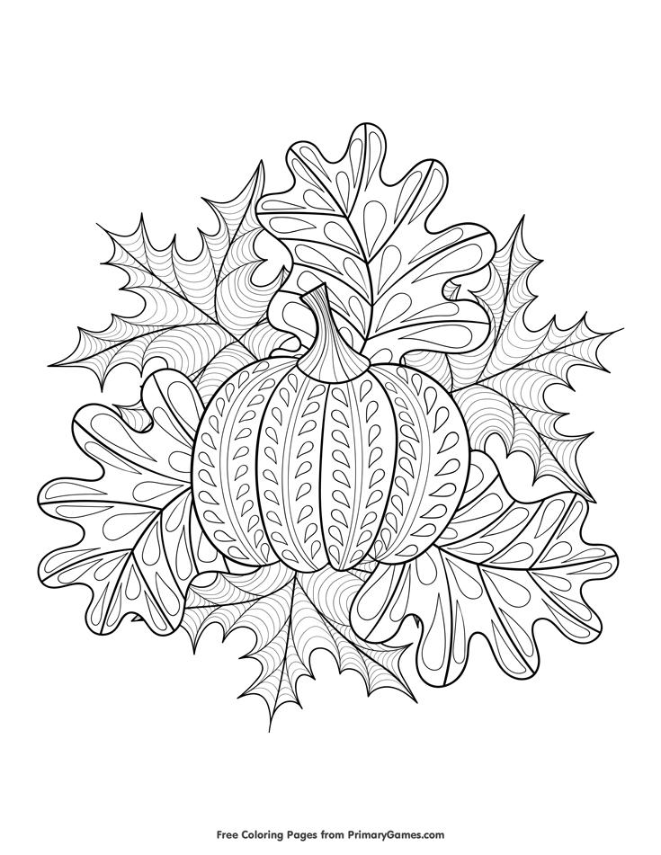 Herbstblätter Malvorlage