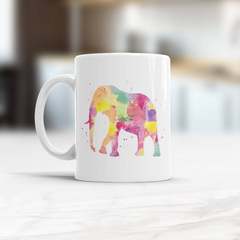 Elephant Coffee Mug Animal Tea Cup Gifts For Lovers Birthday Present Christmas Gift Coffeemug