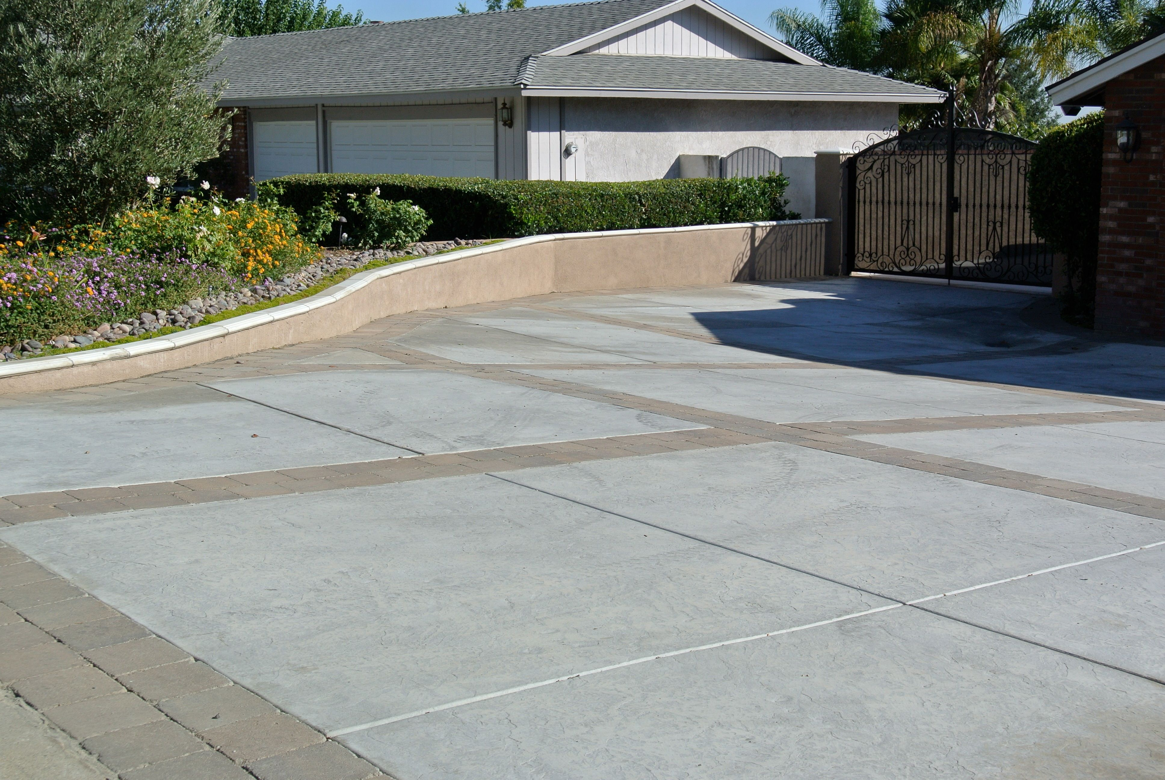 stone driveway yahoo image search results - Concrete Driveway Design Ideas