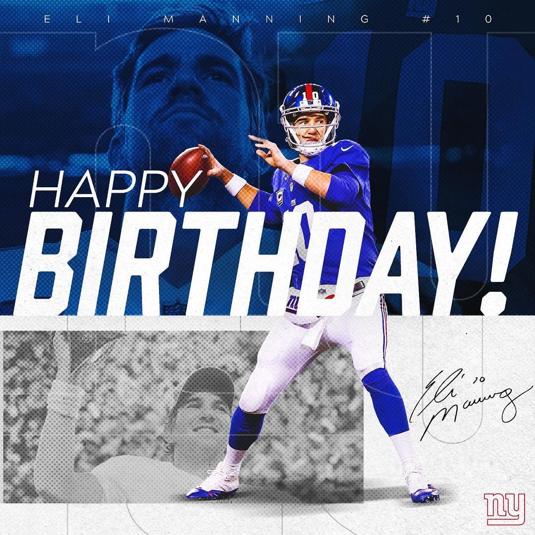 Eli Manning New York Giants Poster FREE US SHIPPING