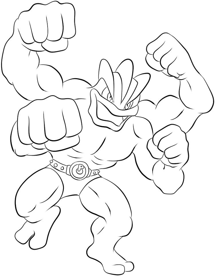Pokemon Coloring Pages Machamp Pokemon Coloring Pokemon