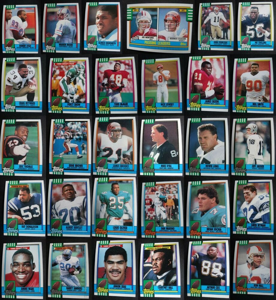 1990 topps football cards complete your set you pick 211