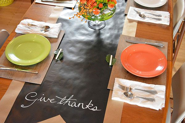How To Make An Easy Chalkboard Table Runner For 7 With Images