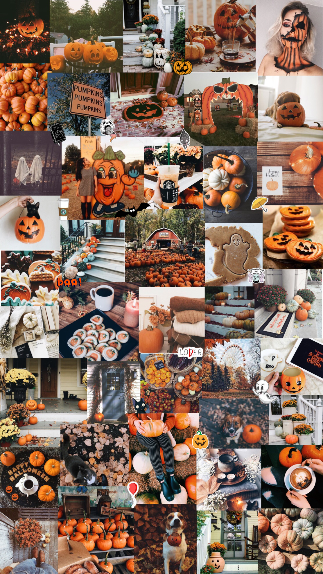 ♯ 30+ Halloween Backgrounds Collage #halloweenbackgroundswallpapers