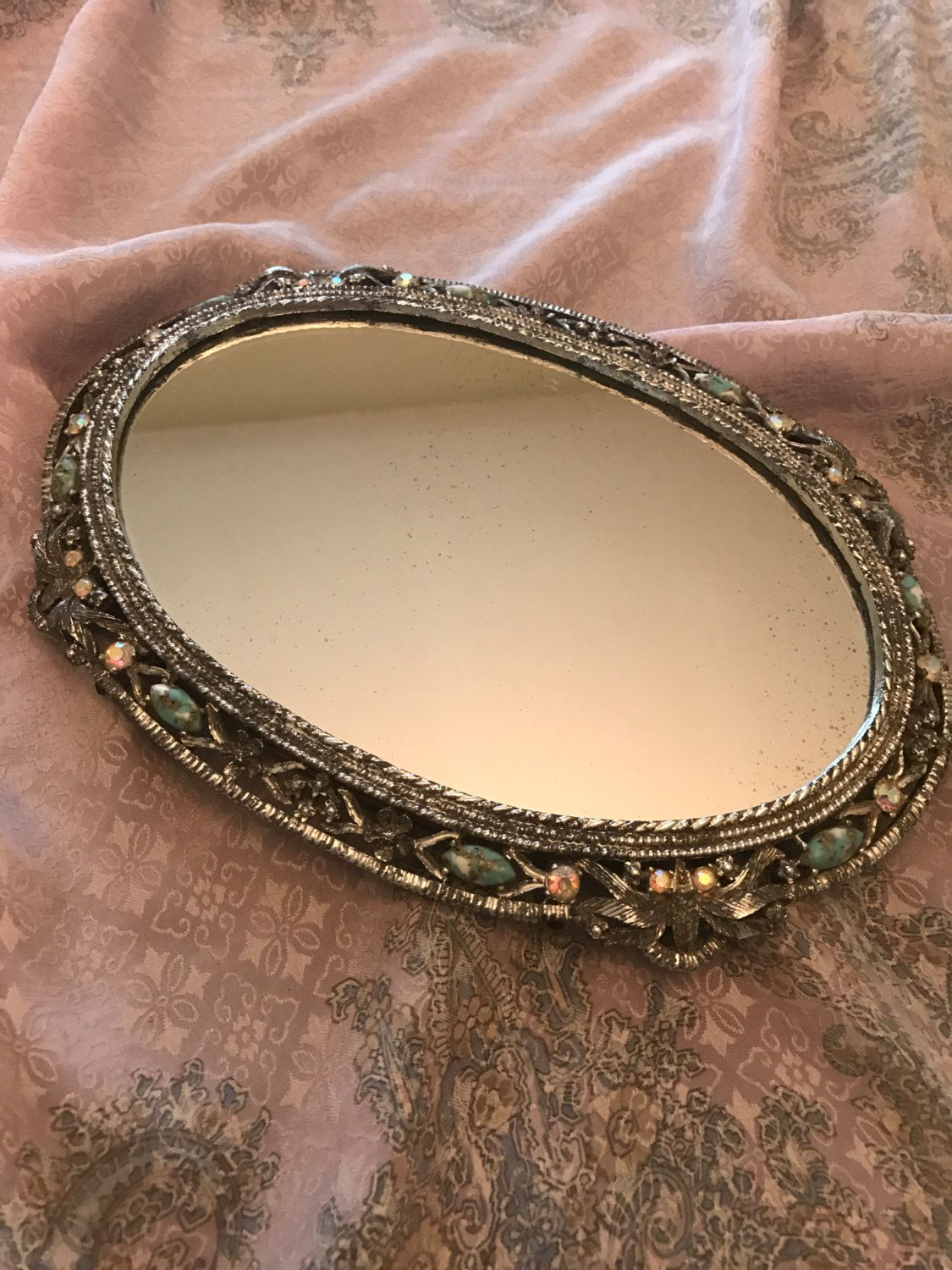 Vintage Vanity Mirror Tray by BazemoreVault on Etsy