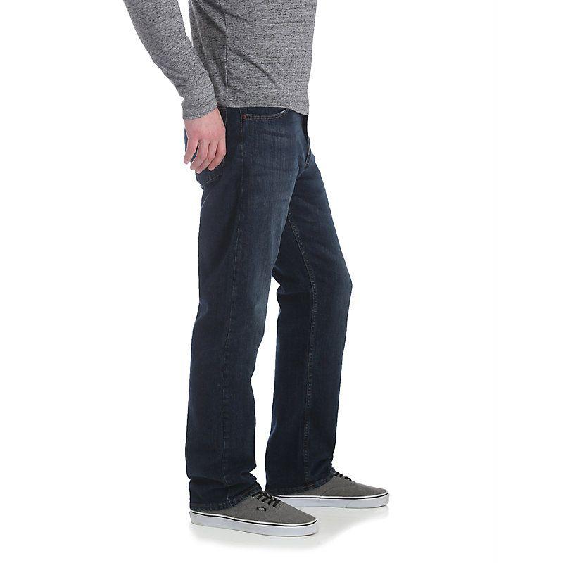 3ee88b90 Wrangler Men's Advanced Comfort Five Star Premium Denim 4-Way Flex Relaxed Fit  Jeans (Size: 32 x 32) Dark Blue