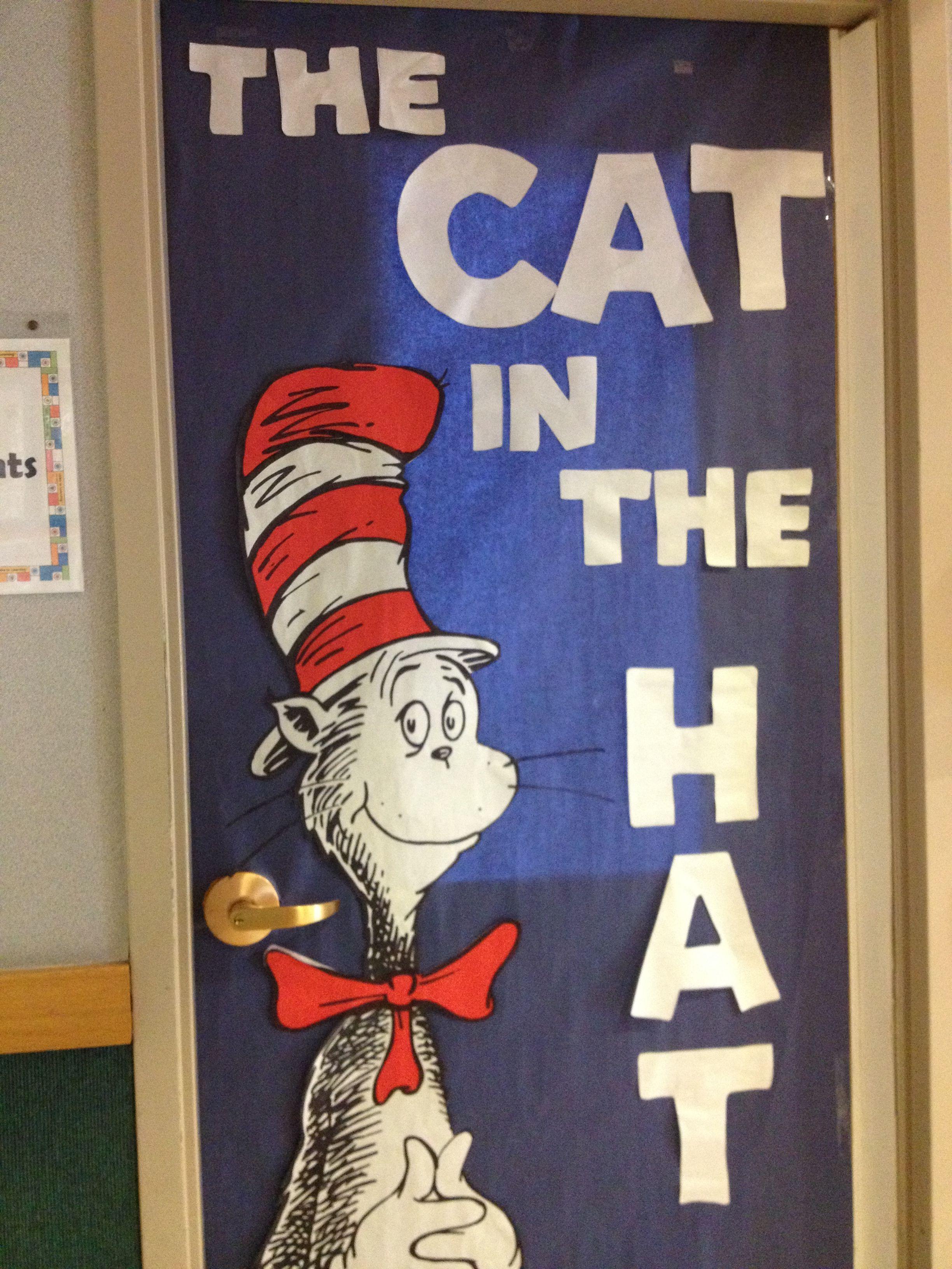 Dr Seuss Cat In The Hat Door Decoration