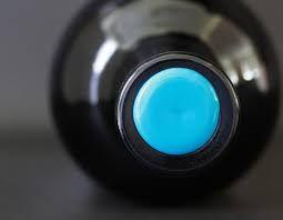Coalition by Shirah Wines (california). Plain wax button seal using colour.