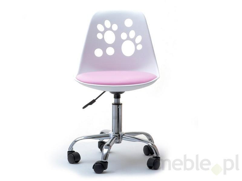 189 Zł Designerskie Krzesło Obrotowe Do Biurka Dla Dzieci Foot Biało
